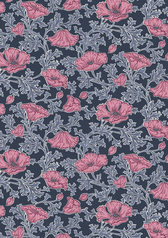Liberty Fabric - Winterbourne Collection Beatrice Poppy