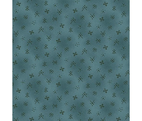 Michael Miller Fabric - X Marks the Dot Teal