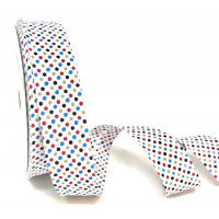 Notions & Haberdashery -Bias Binding Polka Dot 30mm
