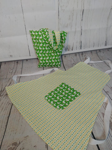 Gifts - Childs Fully Lined Curved Top Apron and Bag Set