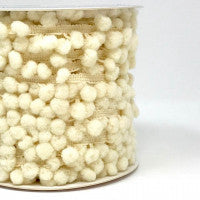 Notions & Haberdashery - Pom Pom Trim Cream