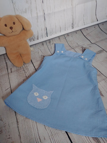 Reversible Pinafore Dress With Shaped Pocket by Milly and Harry