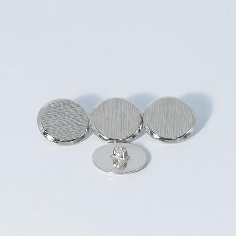 Buttons - Shiny Silver Ridge Button 23mm