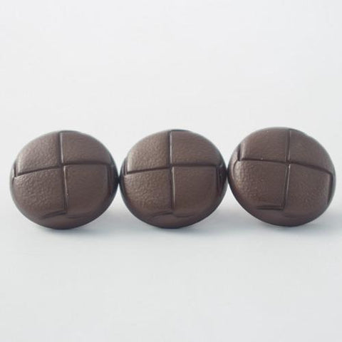 Buttons - Brown Leather Look Traditional Shank Button