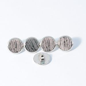Buttons - Small Silver Button With Textured Top