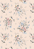 Liberty Fabric - Winterbourne Collection - Winterbourne Bouquet Grey
