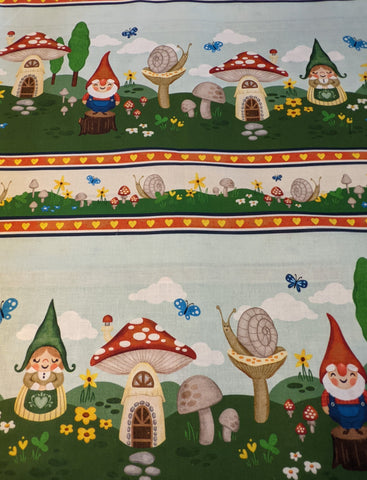 Michael Miller Fabric - Gnome is Where The Heart is.