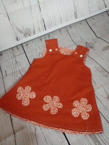 Reversible Pinafore Dress With Applique Design by Milly and Harry