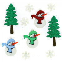 Buttons - Novelty Snowmen Buttons