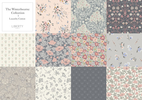 Liberty Fabric Winterbourne Fat Quarter Gift Packs