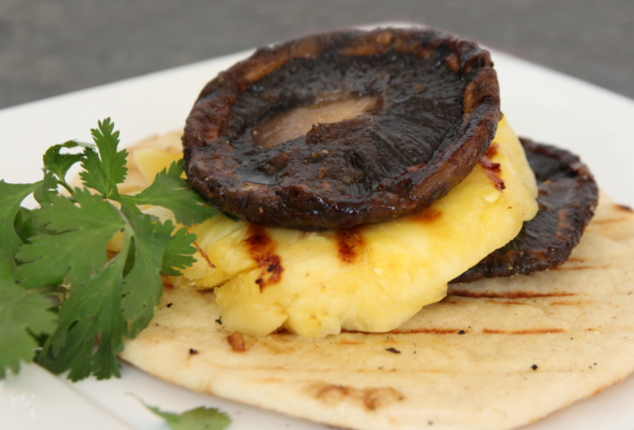 Grilled Portobella Mushrooms and Pineapple