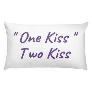 """One Kiss, Two Kiss"" Pillow"