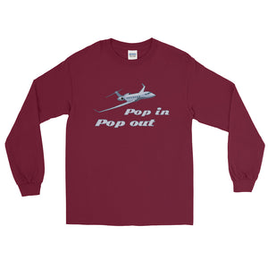 """Pop In, Pop Out"" Long Sleeve T-Shirt"