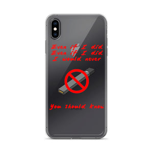 """No Juuling"" iPhone Case"