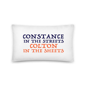 """Constance vs Colton"" Pillow"