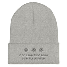 "Load image into Gallery viewer, ""One Kiss Two Kiss"" Gothic Beanie"