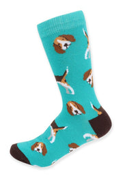 Women's Fun Beagle Dog Crew Socks