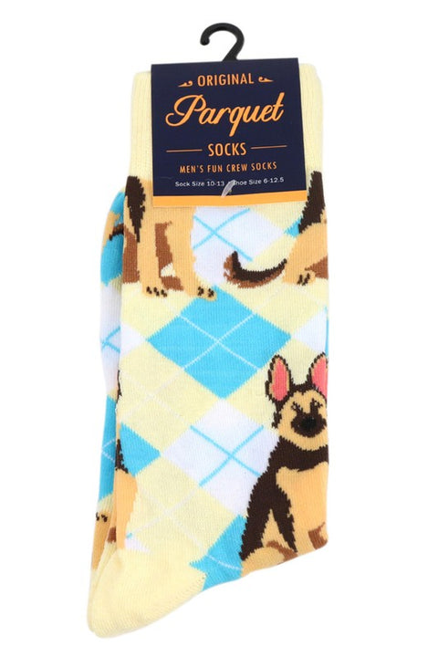 Men's Fun German Shepherd Dog Crew Socks