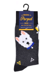 Men's Fun West Highland White Terrier Westie Dog Crew Socks