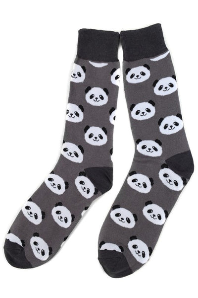 Men's Fun Panda Bear Crew Socks