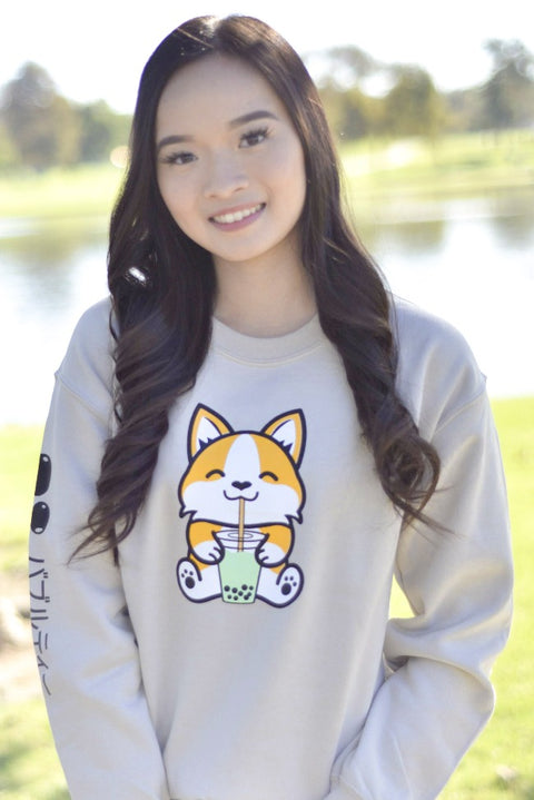 Bubble Tea Boba Corgi Sweatshirt