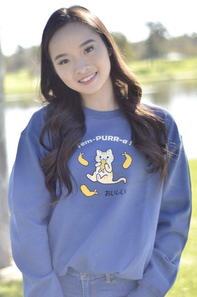 Tem-PURR-a Tempura Kitty Cat Sweatshirt