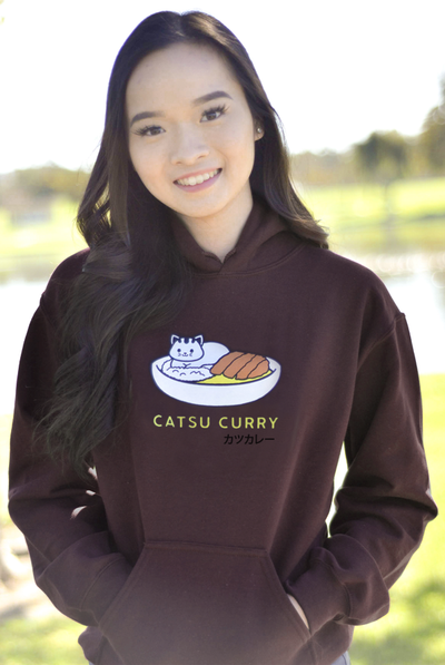 Catsu Curry Kitty Cat Hoodie