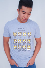 I want to... Corgi Emoticon T-Shirt