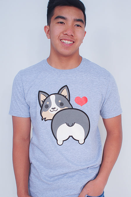 I love Tri-Corgi Butt T-Shirt
