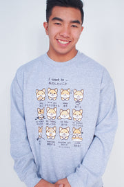 I want to... Shiba Inu Emoticon Sweatshirt