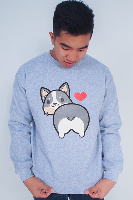 I love Tri-Corgi Butt Sweatshirt