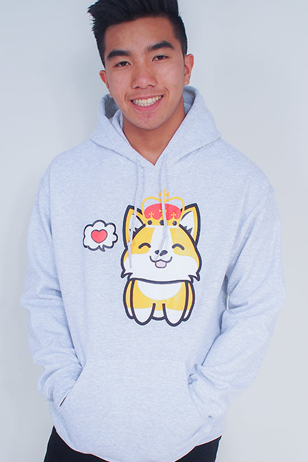 Corgi King in Love Hoodie