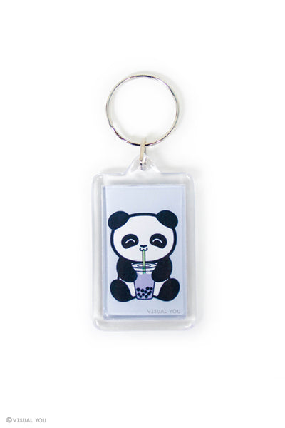 Bubble Tea Boba Panda Keychain