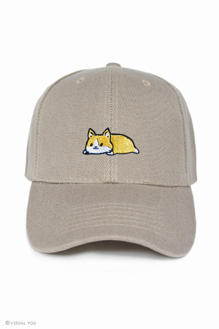 Relaxing Corgi Baseball Cap – Visual You   LOKISA 01f3127307b