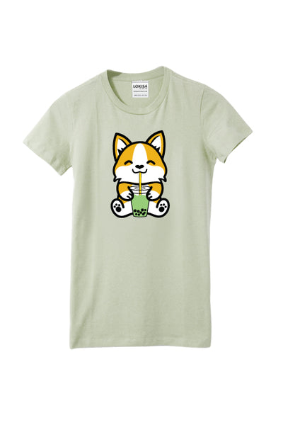 Bubble Tea Boba Corgi T-Shirt