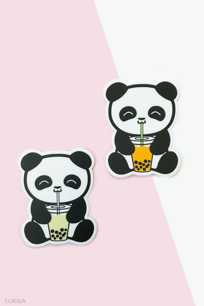 Bubble Tea Boba Panda Vinyl Sticker