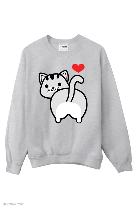 I love Tabby Cat Butt Sweatshirt