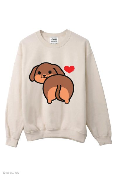 I love Dachshund Butt Sweatshirt