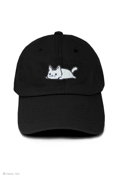 Relaxing Kitty Dad Cap