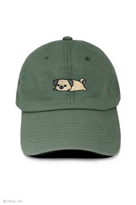 Relaxing Pug Dad Cap