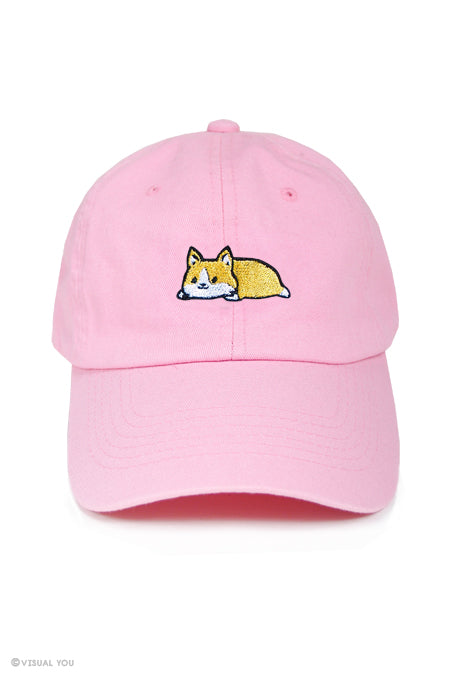 Relaxing Corgi Dad Cap