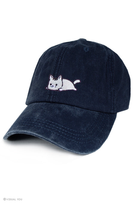 Relaxing Kitty Dad Cap - Wash Style