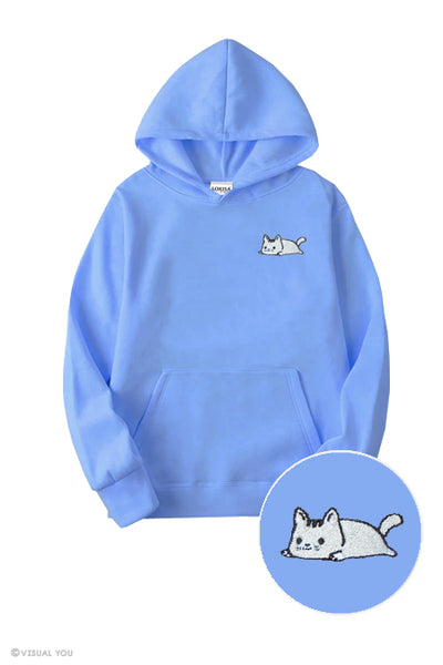Relaxing Kitty Embroidered Hoodie (Kids)