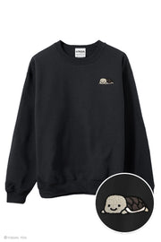 Relaxing Turtle Embroidered Sweatshirt (Grey or Green)