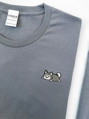 Relaxing Husky Embroidered T-Shirt (more colors)