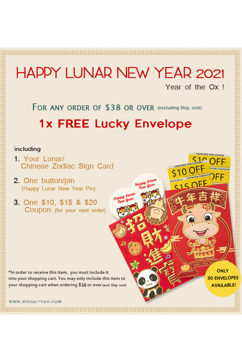 FREE LUCKY ENVELOPE for orders of $38 - MUST ADD TO CART