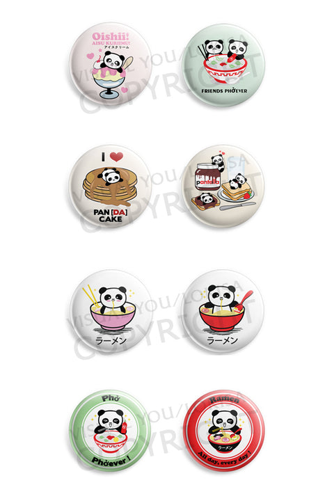 Panda Foodie Love Button