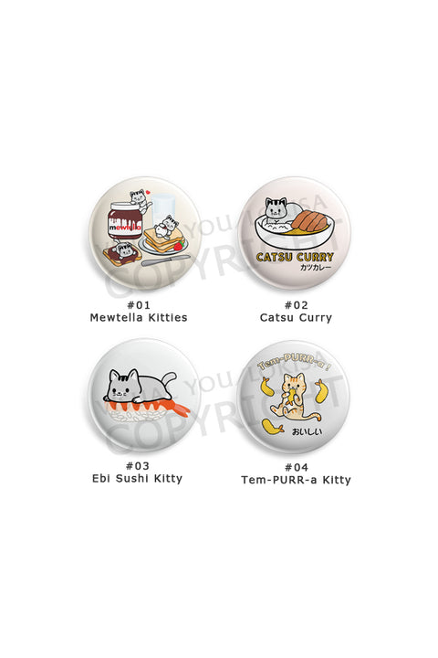Kitty Cat Foodie Love Button