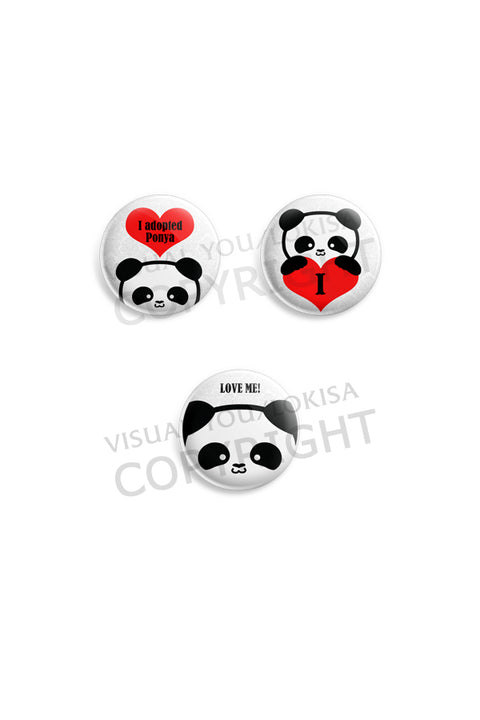 Ponya Panda Love Button