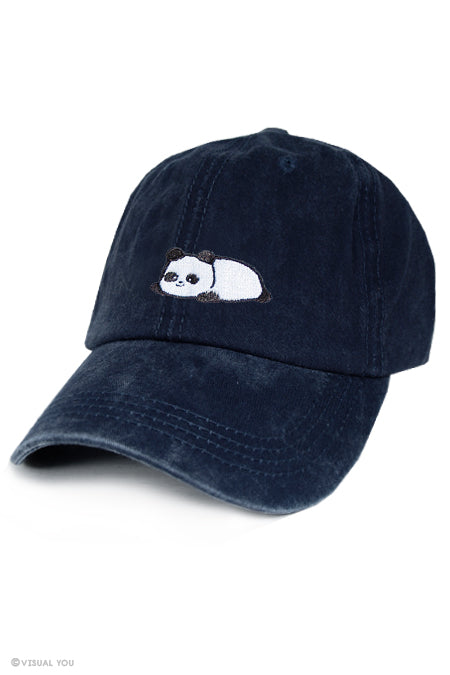 Relaxing Panda Dad Cap - Wash Style